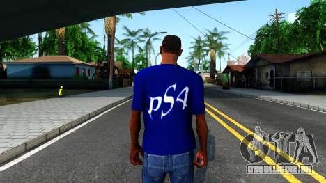 T-Shirt PS4 para GTA San Andreas terceira tela