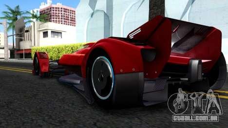 McLaren MP4 X 2016 para GTA San Andreas vista direita