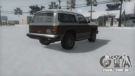Rancher Winter IVF para GTA San Andreas esquerda vista
