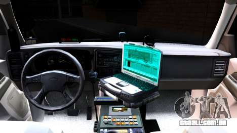 2004 Chevy Tahoe State Wildlife para GTA San Andreas vista interior