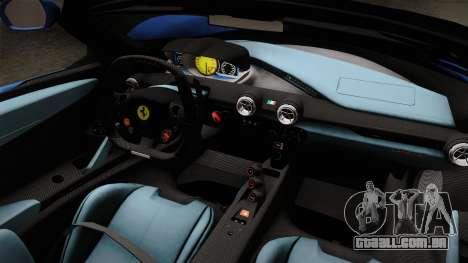 Ferrari LaFerrari Aperta 2017 para GTA San Andreas vista interior