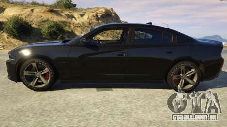 GTA 5 Dodge Charger 2016 vista lateral esquerda