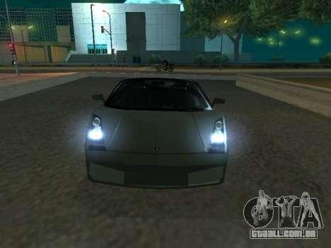 Lamborghini Galardo Spider para GTA San Andreas esquerda vista
