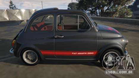 GTA 5 Fiat Abarth 595ss Street ver vista lateral esquerda