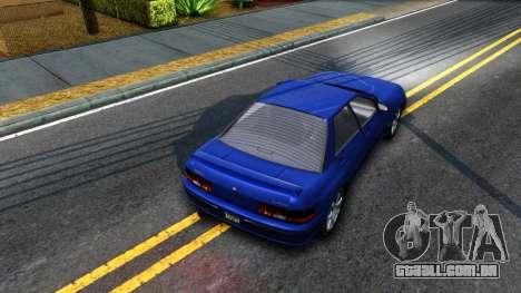 GTA V Zirconium Stratum Sedan para GTA San Andreas vista traseira