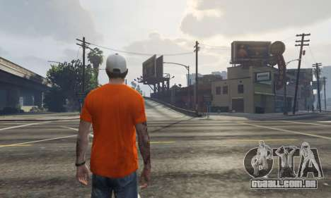 GTA 5 Cap Charlotte Hornets para Trevor terceiro screenshot