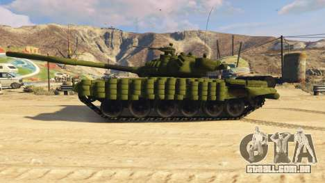GTA 5 Tank T-72 vista lateral esquerda