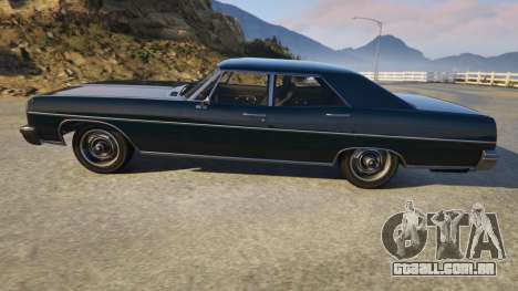 GTA 5 TLAD Regina Sedan vista lateral esquerda