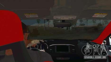 Tsukiko Itasha Evo X Vinyl para GTA San Andreas vista interior
