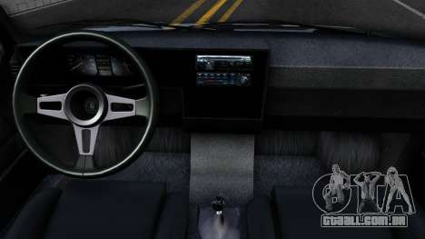 Volkswagen Caddy para GTA San Andreas vista interior