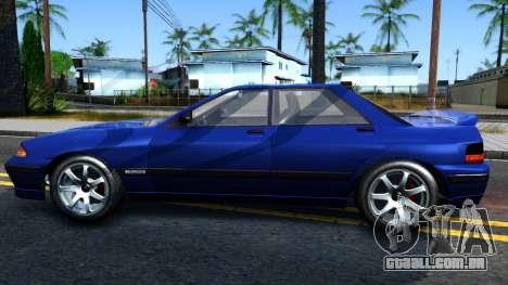GTA V Zirconium Stratum Sedan para GTA San Andreas esquerda vista