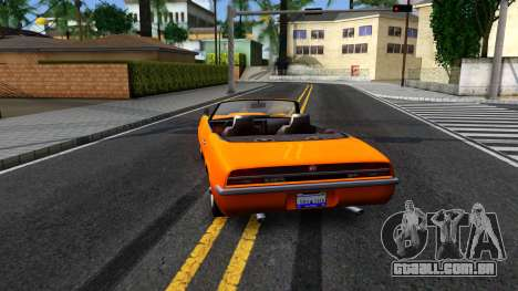 GTA V Declasse Vigero Retro Rim para GTA San Andreas traseira esquerda vista