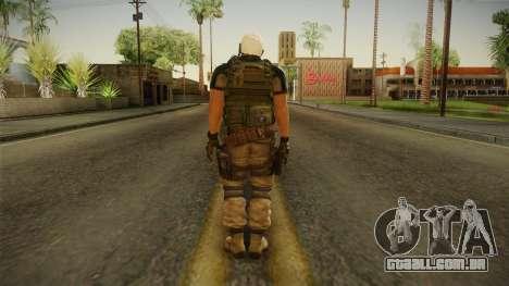 Resident Evil 6 - Chris Asia Bsaa para GTA San Andreas terceira tela