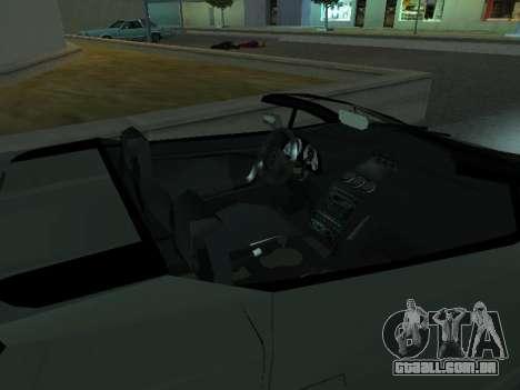 Lamborghini Galardo Spider para vista lateral GTA San Andreas