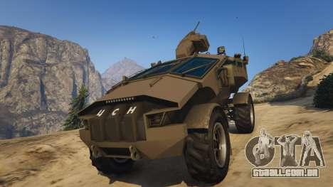 GTA 5 Punisher Khaki Armed Version voltar vista
