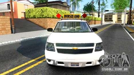 2007 Chevy Avalanche - Pilot Car para GTA San Andreas vista direita