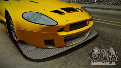 Aston Martin Racing DBRS9 GT3 2006 v1.0.6 Dirt para GTA San Andreas interior