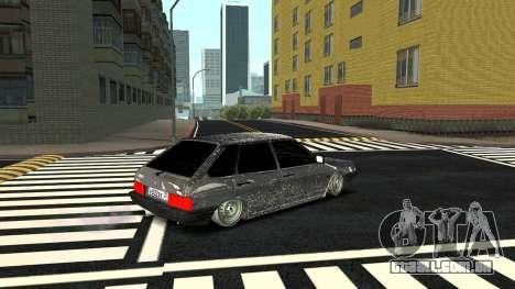 2109 versão de Inverno para GTA San Andreas traseira esquerda vista