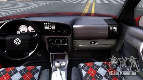 Volkswagen Golf Mk3 1997 para GTA San Andreas vista interior