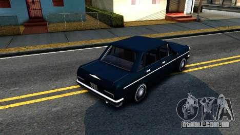 Perennial Sedan para GTA San Andreas vista traseira