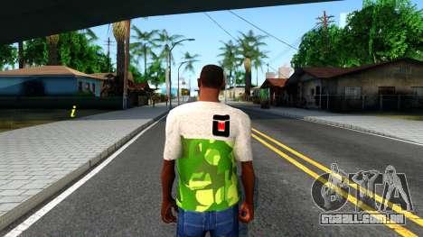 Design Camouflage T-Shirt para GTA San Andreas terceira tela