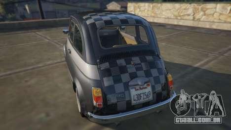GTA 5 Fiat Abarth 595ss Racing ver traseira vista lateral esquerda