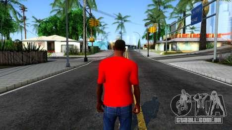 Hulk Hogan T-Shirt para GTA San Andreas terceira tela