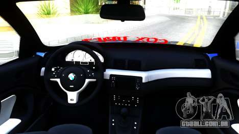BMW E46 Touring Facelift para GTA San Andreas vista interior