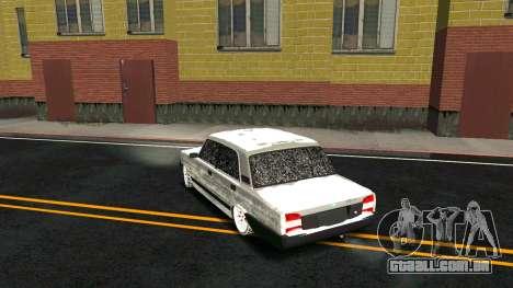 2107 Clássico 2 edição de Inverno para GTA San Andreas vista inferior