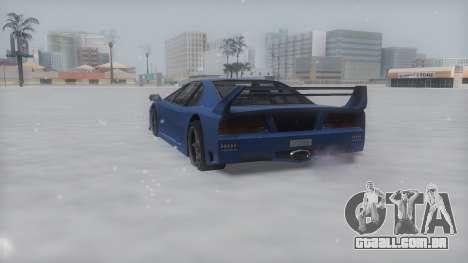 Turismo Winter IVF para GTA San Andreas traseira esquerda vista