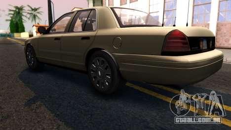Ford Crown Victoria Unmarked 2009 para GTA San Andreas