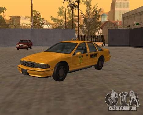 Chevrolet Caprice Taxi Kaufman para GTA San Andreas