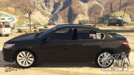 GTA 5 Honda Accord 2017 vista lateral esquerda
