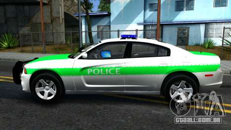 Dodge Charger German Police 2013 para GTA San Andreas esquerda vista