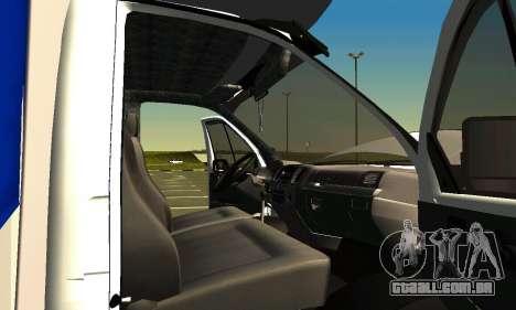 Gazela 3302 para GTA San Andreas vista superior