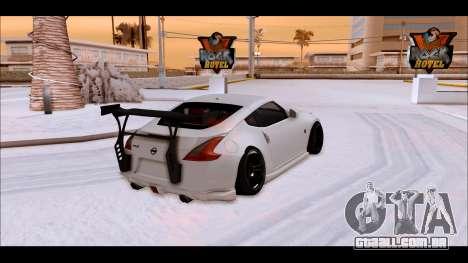 Nissan 370z Drift Edition para GTA San Andreas esquerda vista