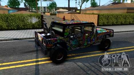 Sticker Patriot para GTA San Andreas vista traseira