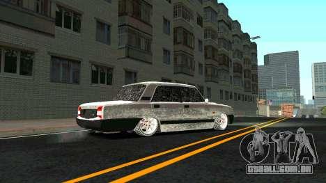 2107 Clássico 2 edição de Inverno para GTA San Andreas vista interior