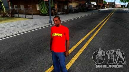 Hulk Hogan T-Shirt para GTA San Andreas