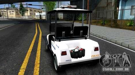 Caddy Metropolitan Police 1992 para GTA San Andreas traseira esquerda vista