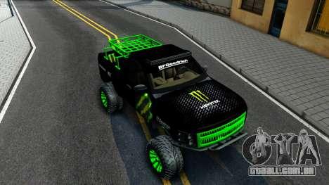 Chevrolet Silverado Monster Energy V2 para GTA San Andreas