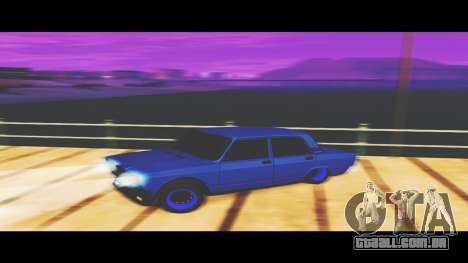 VAZ-2107 Azul para O Udnikoff para GTA San Andreas