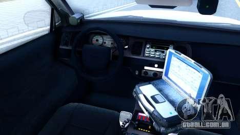 Ford Crown Victoria Generic 2010 para GTA San Andreas vista interior