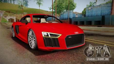 Audi R8 V10 2017 para GTA San Andreas