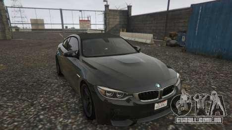 GTA 5 BMW M4 F82 2015 voltar vista