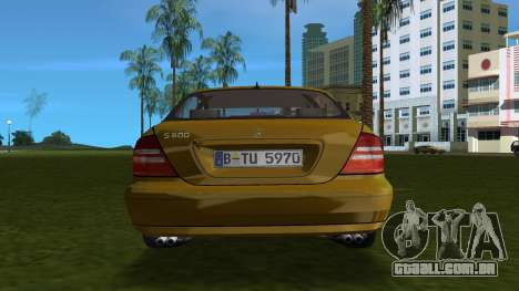 Mercedes-Benz S600 W220 para GTA Vice City vista direita