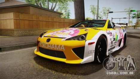 Lexus LFA Beatrice The Orange of ReZero para GTA San Andreas