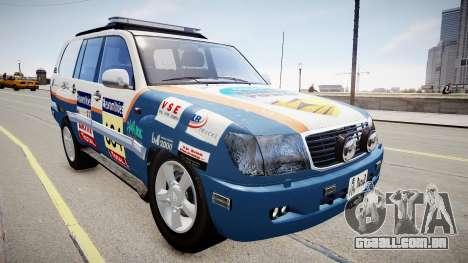 Toyota Land Cruiser GINAF Dakar Service Car para GTA 4