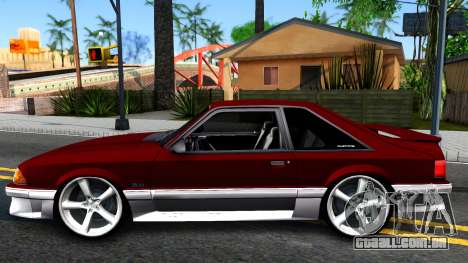 Ford Mustang 1993 para GTA San Andreas esquerda vista