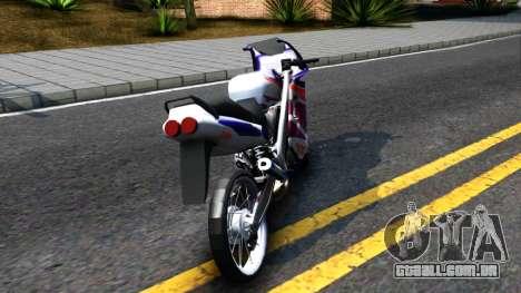Yamaha TZM 150 para GTA San Andreas traseira esquerda vista